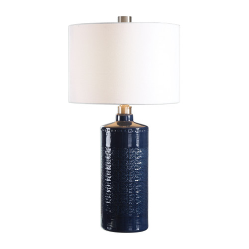 Uttermost Thalia Royal Blue Table Lamp by David Frisch