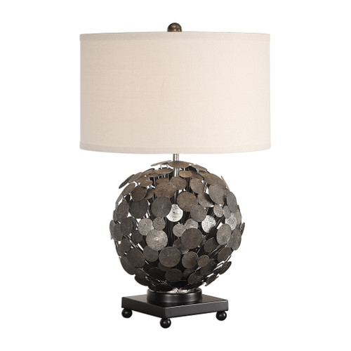 Uttermost Callisto Steel Disk Table Lamp by David Frisch