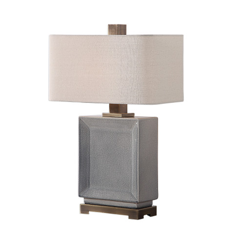 Uttermost Abbot Crackled Gray Table Lamp by David Frisch