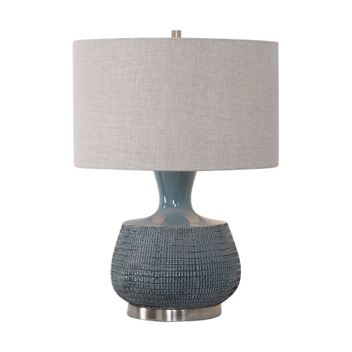 Uttermost Hearst Blue Glaze Table Lamp by Jim Parsons