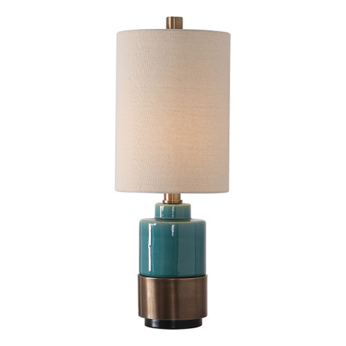 Uttermost Rema Turquoise Table Lamp by Carolyn Kinder