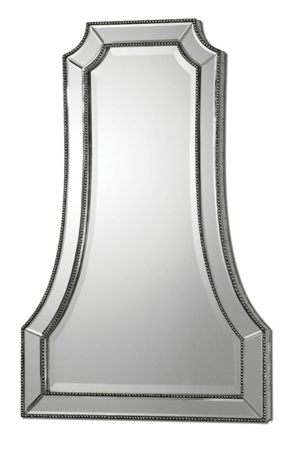 Uttermost Cattaneo Silver Beaded Mirror by Carolyn Kinder