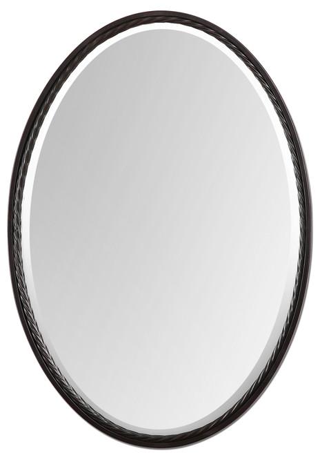 Uttermost Casalina Oil Rubbed Bronze Oval Mirror