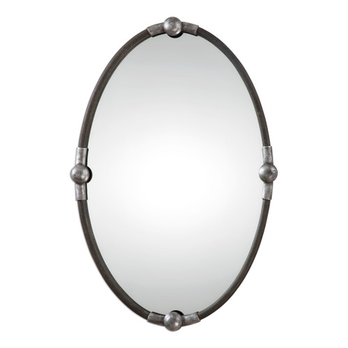 Uttermost Carrick Black Oval Mirror by Grace Feyock