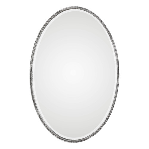 Uttermost Giana Oval Silver Mirror by Jim Parsons