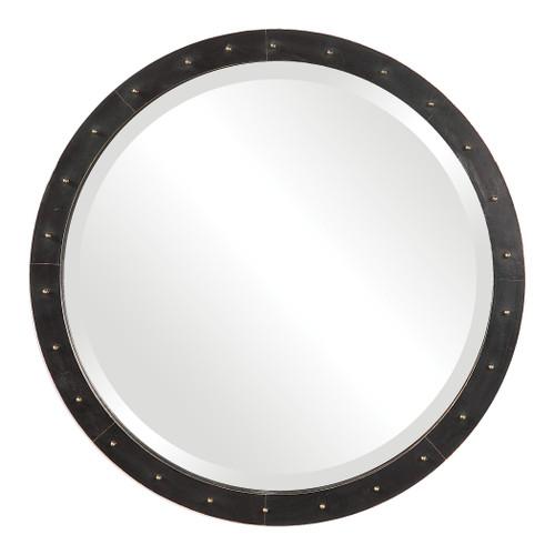 Uttermost Beldon Round Industrial Mirror by John Kowalski
