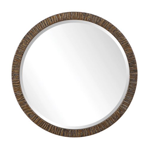 Uttermost Wayde Gold Bark Round Mirror