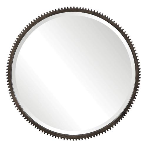 Uttermost Werner Round Gear Mirror by John Kowalski