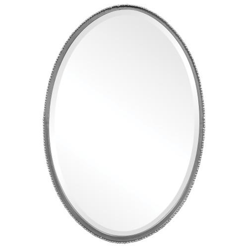 Uttermost Reva Silver Oval Mirror by Grace Feyock