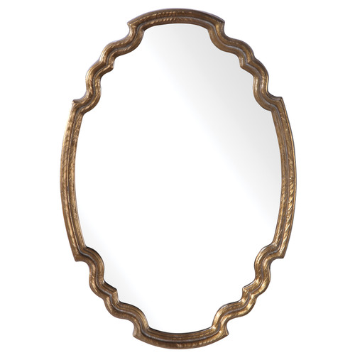 Uttermost Ariane Gold Oval Mirror by Grace Feyock