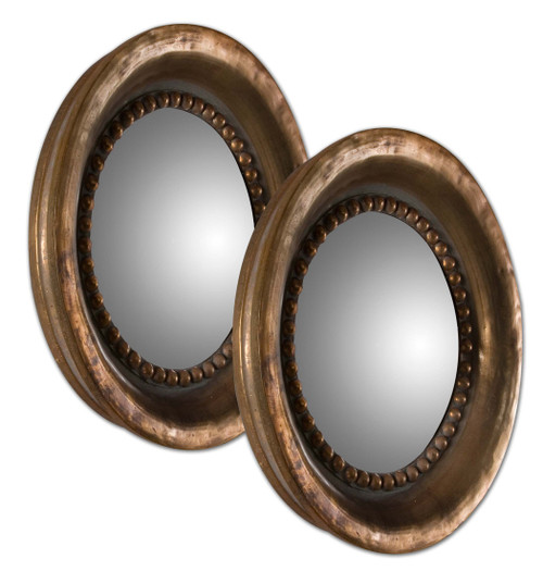 Uttermost Tropea Rounds Wood Mirror S/2 by Grace Feyock