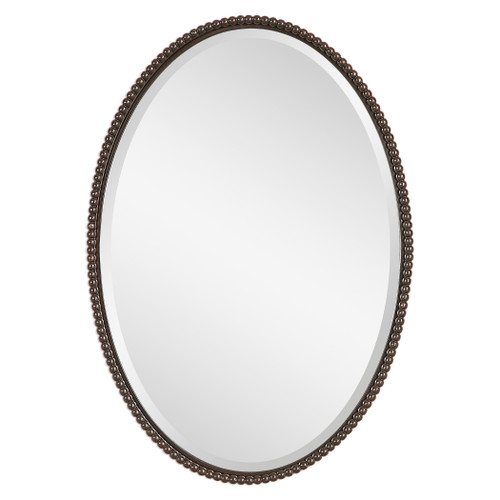 Uttermost Sherise Bronze Oval Mirror by Carolyn Kinder