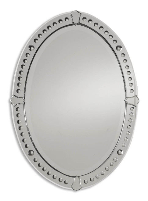 Uttermost Graziano Frameless Oval Mirror by Matthew Williams