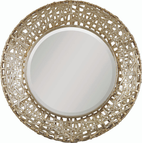 Uttermost Alita Champagne Woven Metal Mirror by Carolyn Kinder