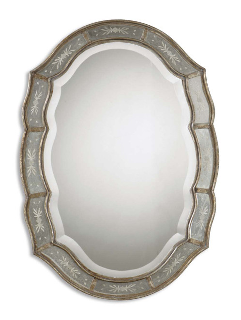 Uttermost Fifi Etched Antique Gold Mirror by Grace Feyock