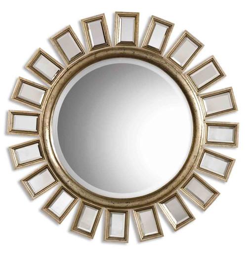 Uttermost Cyrus Round Silver Mirror