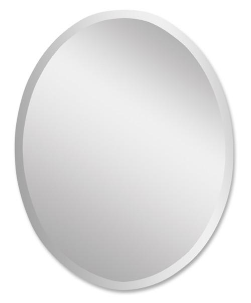 Uttermost Frameless Vanity Oval Mirror