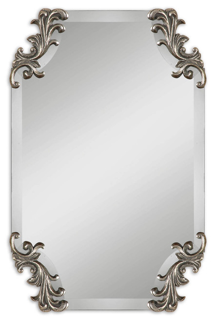 Uttermost Andretta Baroque Silver Mirror by Grace Feyock