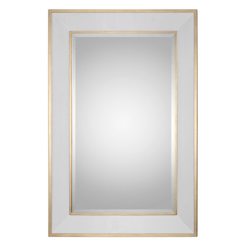 Uttermost Cormor White Mirror by Grace Feyock