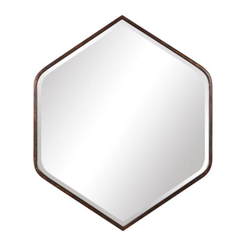 Uttermost Magda Hexagon Wall Mirror by David Frisch