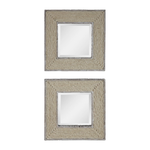 Uttermost Cambay Square Mirrors Set2 by Renee Wightman