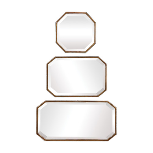 Uttermost Trois Gold Mirrors, S/3 by David Frisch