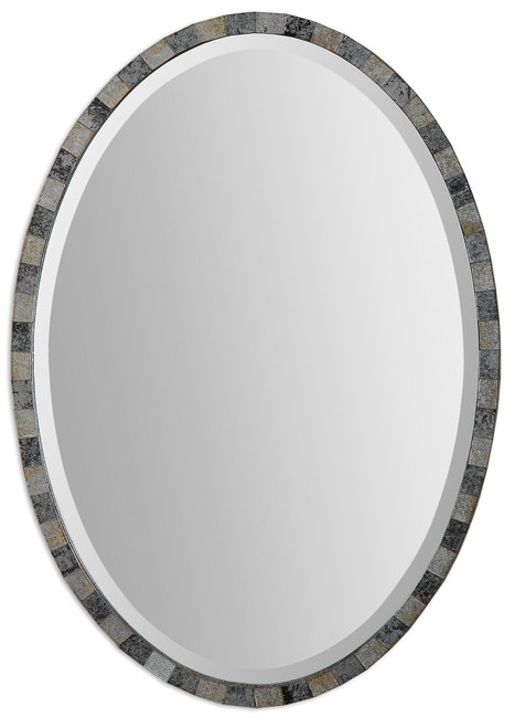 Uttermost Paredes Oval Mosaic Mirror by Grace Feyock