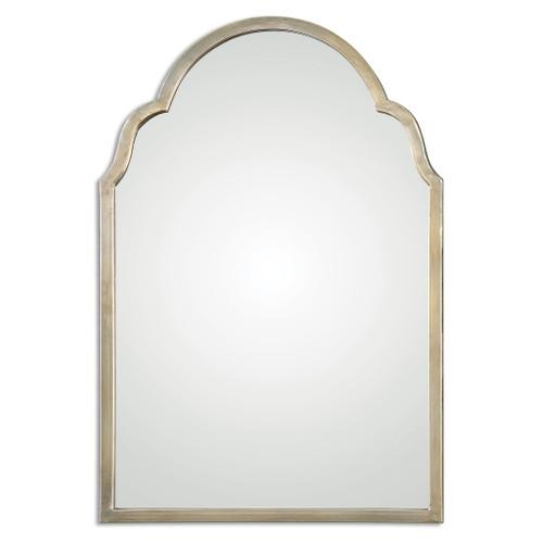 Uttermost Brayden Petite Silver Arch Mirror by Grace Feyock