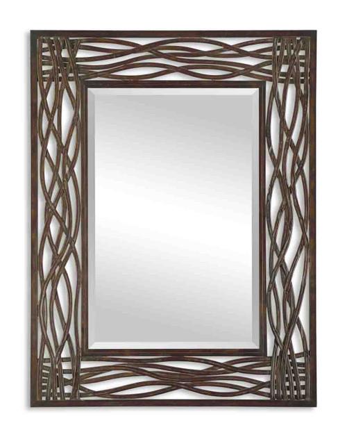 Uttermost Dorigrass Brown Metal Mirror by Grace Feyock