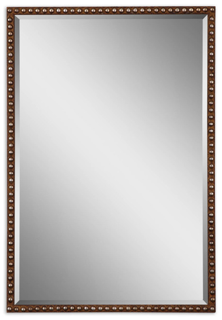 Uttermost Tempe Distressed Brown Mirror by Grace Feyock