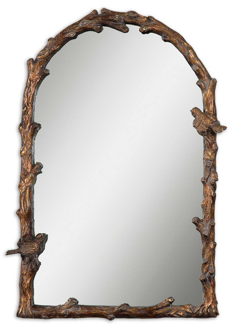 Uttermost Paza Antique Gold Arch Mirror by Grace Feyock
