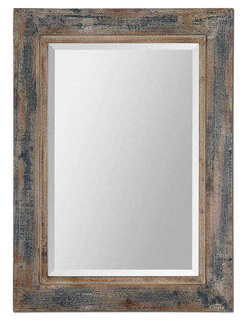 Uttermost Bozeman Distressed Blue Mirror by Grace Feyock
