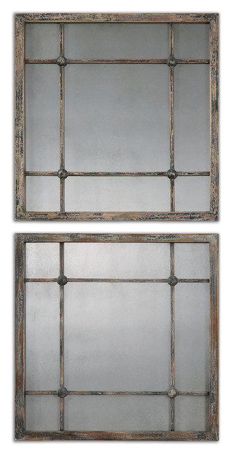 Uttermost Saragano Square Mirrors Set/2 by Grace Feyock