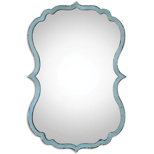 Uttermost Nicola Light Blue Mirror by Grace Feyock
