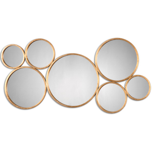 Uttermost Kanna Gold Wall Mirror by Jim Parsons