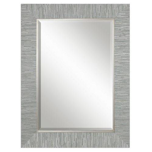 Uttermost Belaya Gray Wood Mirror by Grace Feyock
