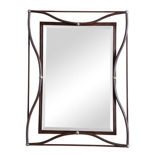 Uttermost Thierry Bronze Mirror by Carolyn Kinder