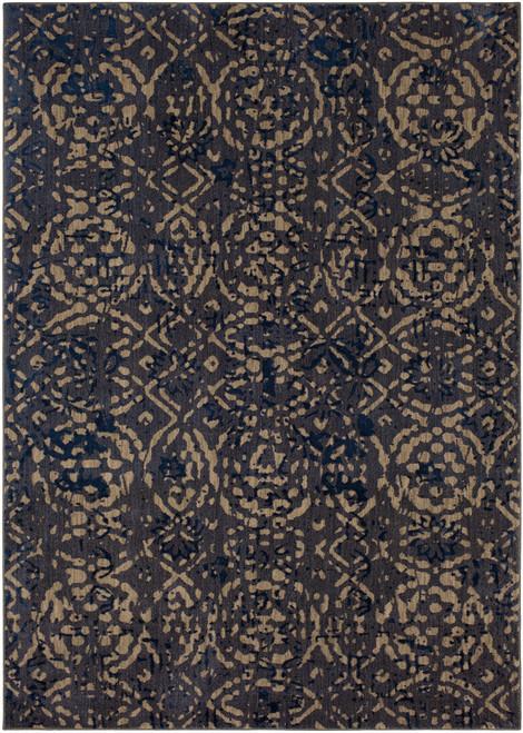 Karastan Cosmopolitan Block Print Ink Blue by Patina Vie