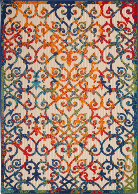 Nourison Aloha ALH21 Multicolor Easy-care Rug - NOR-ALH21-Multicolor