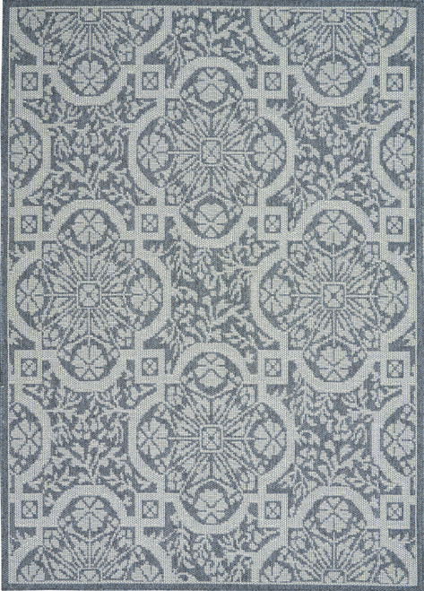 Nourison Aruba Area Rug - NOR-ARB02-Slate-Light Blue