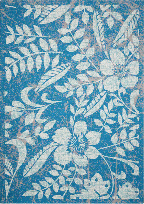 Nourison Coastal Blue Indoor-Outdoor Area Rug - NOR-CSTL3-Blue