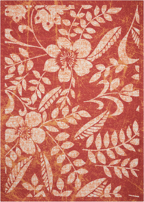 Nourison Red Area Rug - NOR-CSTL3-Red