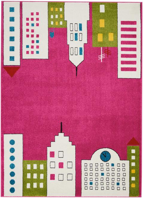 Nourison Miles Pink Kids Area Rug - NOR-DS201-Pink