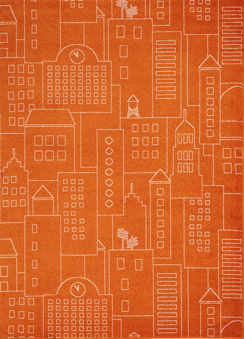 Nourison Miles Orange Kids Area Rug - NOR-DS202-Orange
