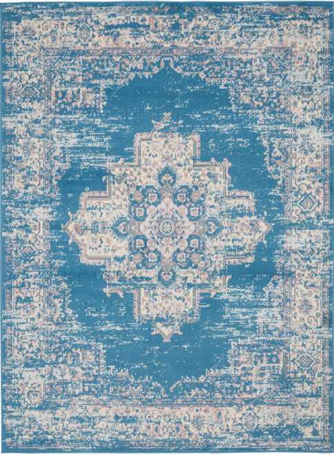Nourison Grafix Navy-Blue Area Rug - NOR-GRF14-Blue