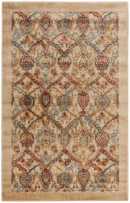 Nourison Graphic Illusions Light Gold Area Rug - NOR-GIL15-Light Gold