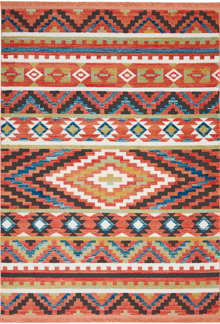 Nourison Navajo Orange Area Rug - NOR-NAV04-Orange