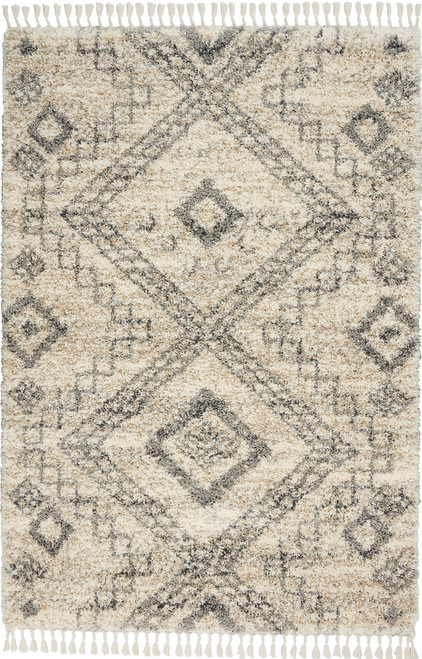 Nourison Oslo OSL02 Ivory and Grey Scandinavian Area Rug - NOR-OSL02-Ivory-Grey
