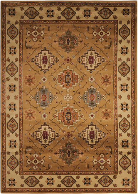 Nourison Paramount Gold Area Rug - NOR-PAR18-Gold