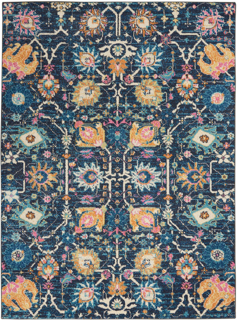 Nourison Passion Navy and Blue Area Rug - NOR-PSN01-Navy